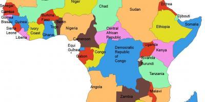Afrika Karta Guinea.Karta Tanzanija Kartice Tanzaniji Istocna Afrika Afrika